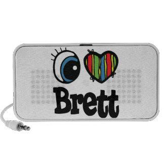 I Heart (Love) Brett Portable Speakers