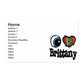 I Heart (Love) Brittany Pack Of Standard Business Cards