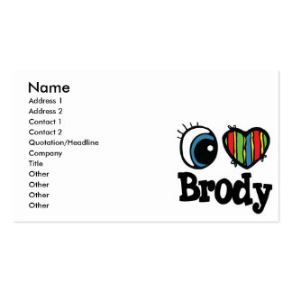 I Heart (Love) Brody Pack Of Standard Business Cards