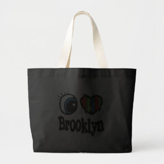 I Heart (Love) Brooklyn Jumbo Tote Bag