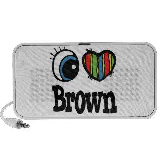 I Heart (Love) Brown PC Speakers
