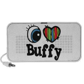 I Heart (Love) Buffy Travelling Speakers