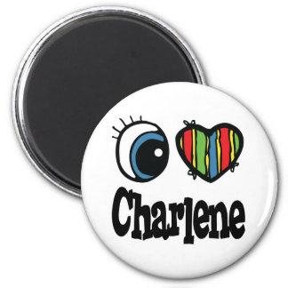 I Heart (Love) Charlene 6 Cm Round Magnet
