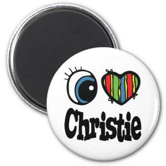 I Heart (Love) Christie 6 Cm Round Magnet
