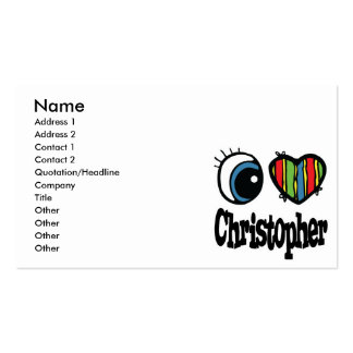 I Heart (Love) Christopher Pack Of Standard Business Cards