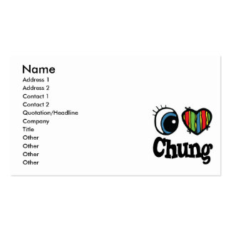 I Heart (Love) Chung Pack Of Standard Business Cards