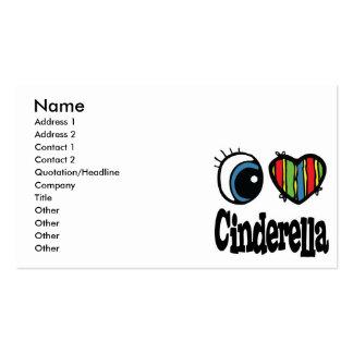 I Heart (Love) Cinderella Pack Of Standard Business Cards