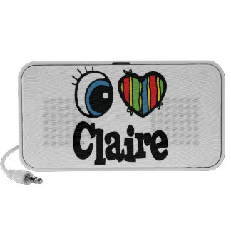 I Heart (Love) Claire Portable Speakers