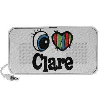 I Heart (Love) Clare Mini Speakers