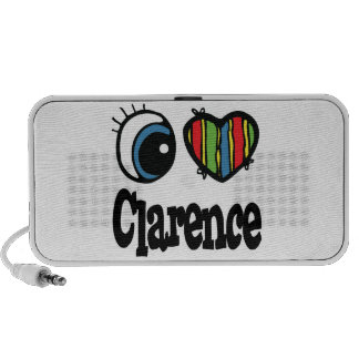 I Heart (Love) Clarence Travelling Speakers