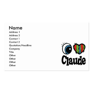 I Heart (Love) Claude Pack Of Standard Business Cards