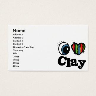 I Heart (Love) Clay Business Card