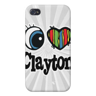 I Heart (Love) Clayton Case For iPhone 4