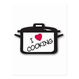 I Heart Love Cooking Postcard