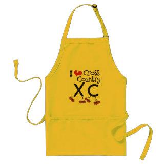 I heart (love) Cross Country Running XC Standard Apron