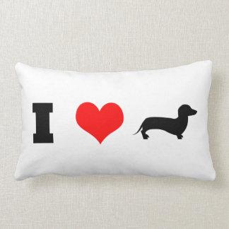 I Heart (love) Dachshunds Lumbar Cushion