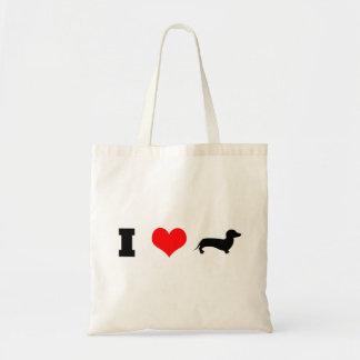 I Heart (love) Dachshunds Tote Bag