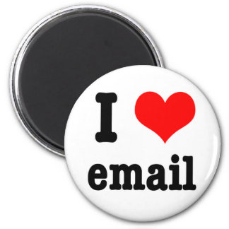I HEART (LOVE) email 6 Cm Round Magnet