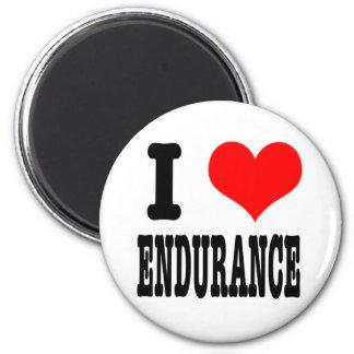 I HEART (LOVE) ENDURANCE 6 CM ROUND MAGNET