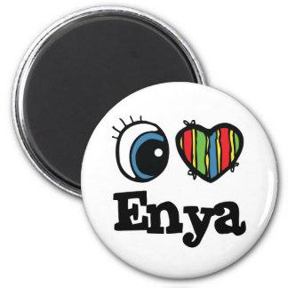 I  Heart (Love) Enya 6 Cm Round Magnet