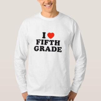 I Heart / Love Fifth Grade T-Shirt