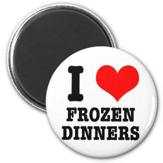 I HEART (LOVE) frozen dinners 6 Cm Round Magnet