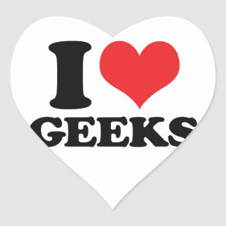 I Heart / love geeks Heart Sticker