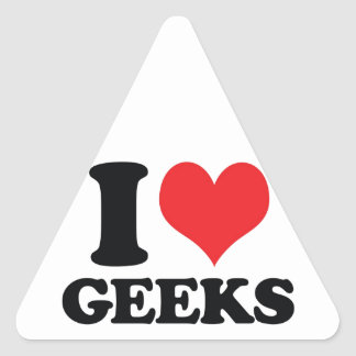 I Heart / love geeks Stickers