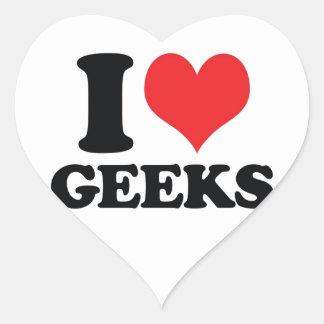 I Heart / love geeks Heart Sticker