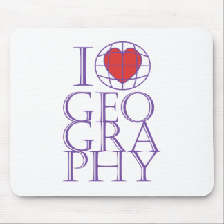 I heart (love) Geography Mouse Pad