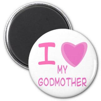 I Heart (Love) godmother 6 Cm Round Magnet