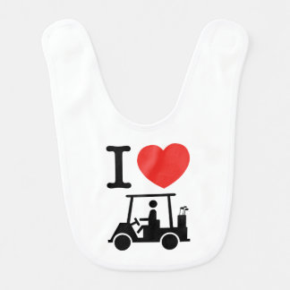 I Heart (Love) Golf Cart Bib
