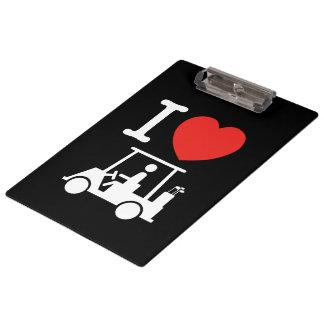 I Heart (Love) Golf Cart Clipboards