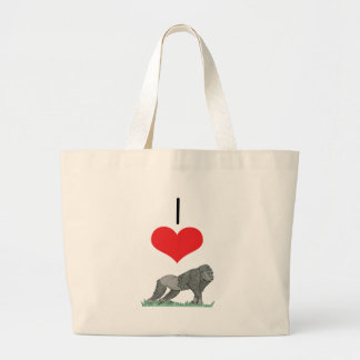 I Heart Love Gorillas Canvas Bag