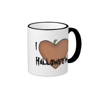 I Heart (Love) Halloween Ringer Mug