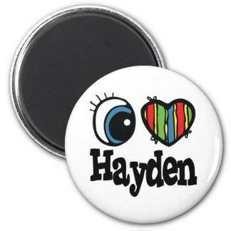 I Heart (Love) Hayden 6 Cm Round Magnet