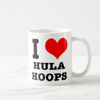 I HEART (LOVE) HULA HOOPS COFFEE MUGS