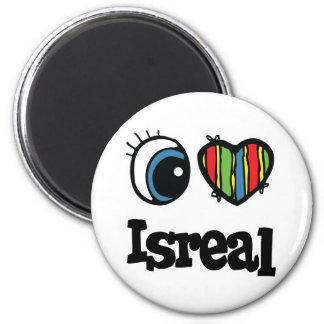 I Heart (Love) Isreal 6 Cm Round Magnet