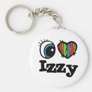 I Heart (Love) Izzy Basic Round Button Key Ring