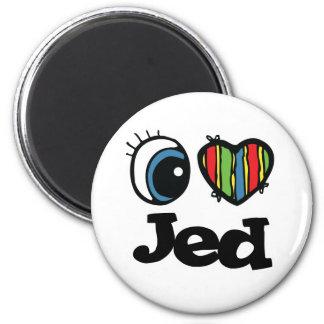 I Heart (Love) Jed 6 Cm Round Magnet