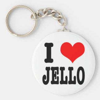 I HEART (LOVE) jello Basic Round Button Key Ring
