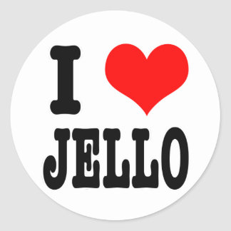 I HEART (LOVE) jello Round Sticker