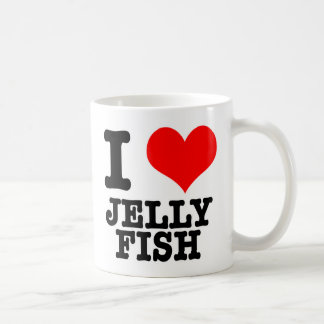 I HEART (LOVE) JELLY FISH COFFEE MUG