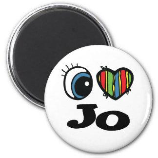 I Heart (Love) Jo 6 Cm Round Magnet