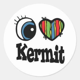 I Heart (Love) Kermit Round Sticker
