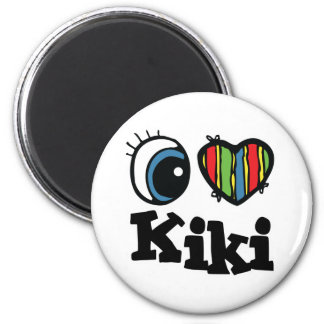 I Heart (Love) Kiki 6 Cm Round Magnet