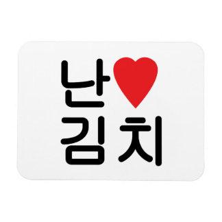 I Heart [Love] Kimchi 김치 Rectangular Photo Magnet