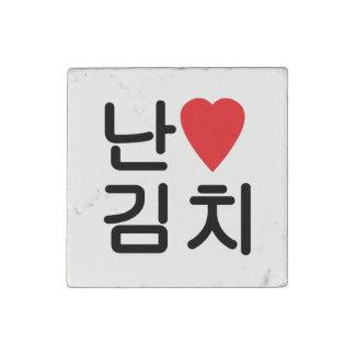 I Heart [Love] Kimchi 김치 Stone Magnet