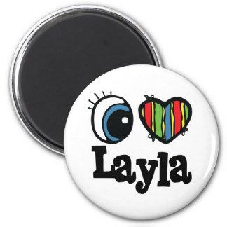 I Heart (Love) Layla 6 Cm Round Magnet
