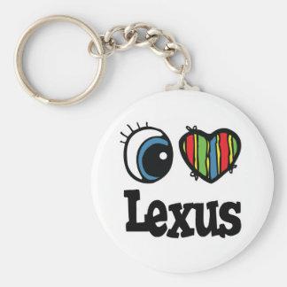 I Heart (Love) Lexus Basic Round Button Key Ring